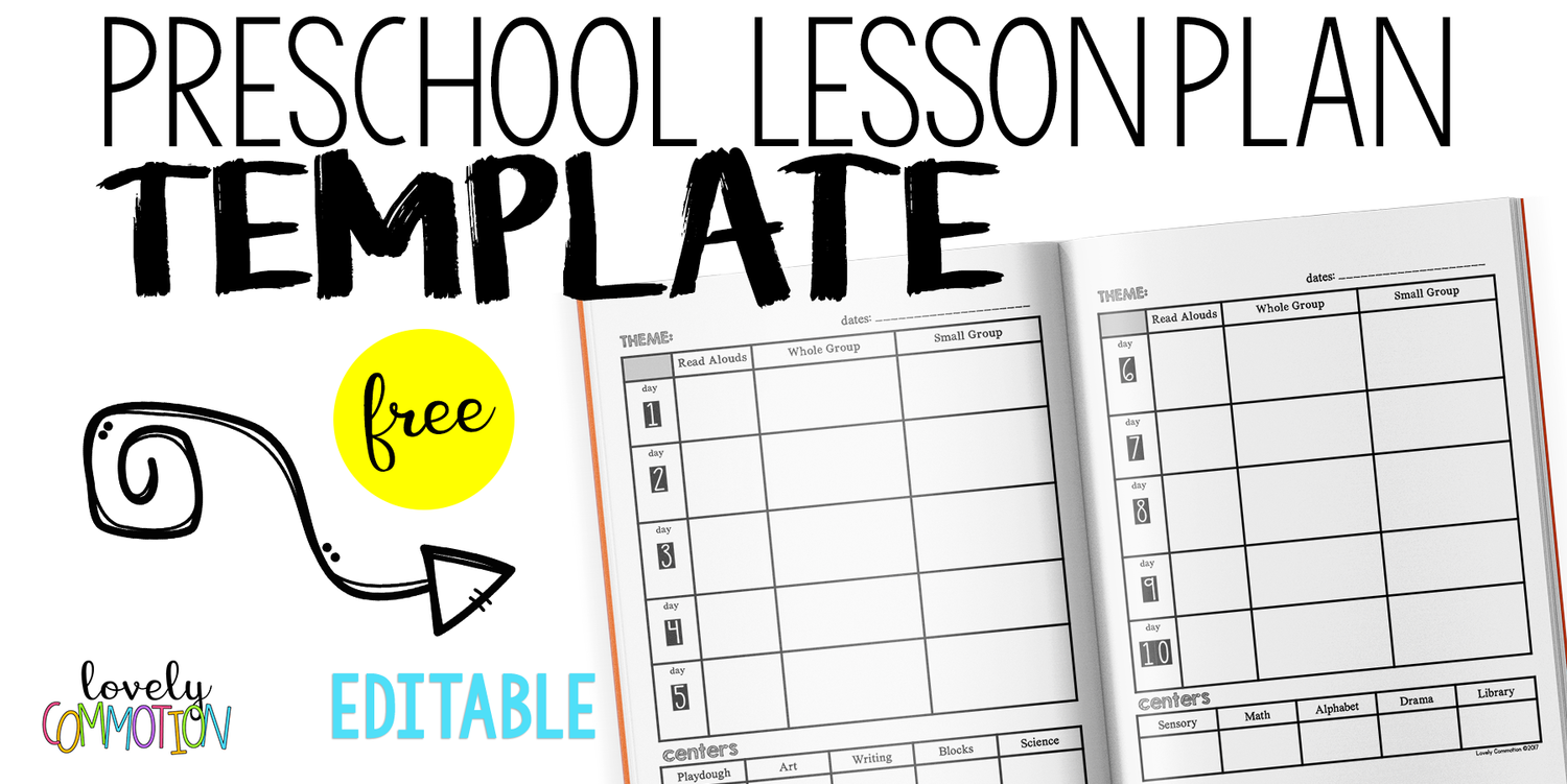 Easy And Free Preschool Lesson Plan Template Lovely Commotion