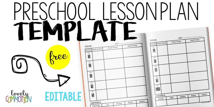 Easy And Free Preschool Lesson Plan Template Lovely Commotion - Lesson plan template for preschool