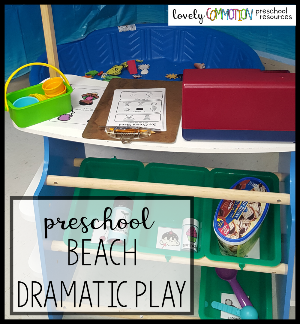 preschool pretend play beach