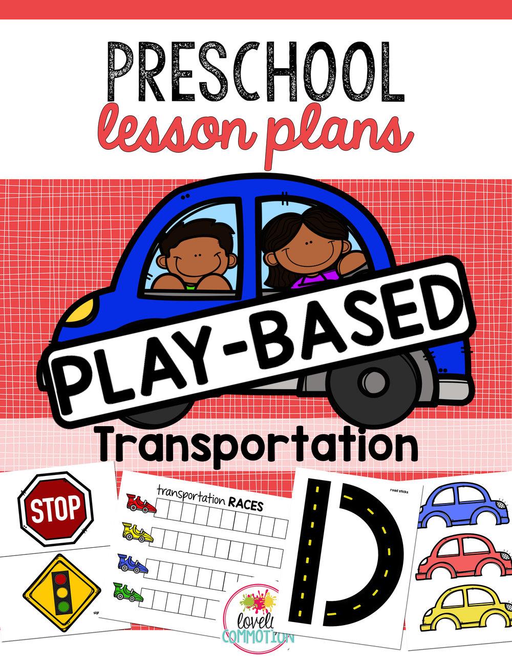 Preschool Play-Based Transportation Lesson Plans