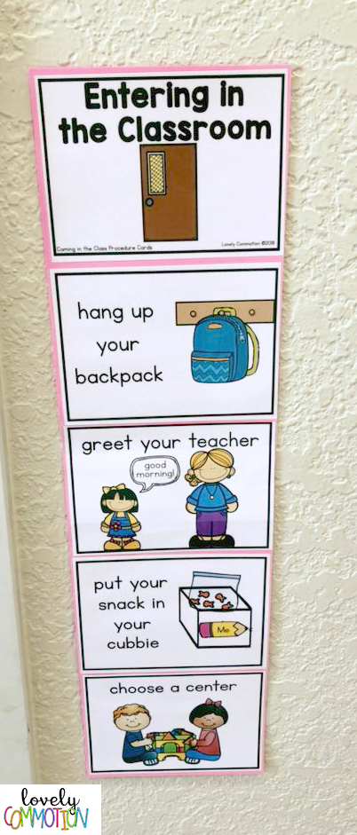 preschool procedure cards