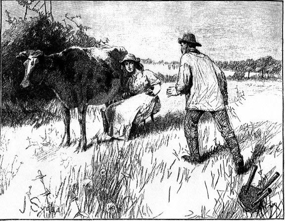 Tess at work (1891 Joseph Syddall illustration)