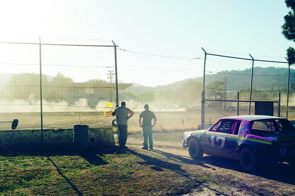 Time trials at Hayfork Speedway.