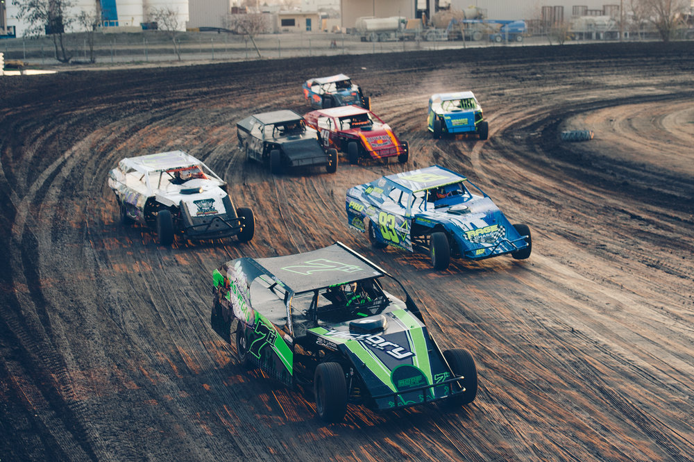 Sport Mods duel on Chowchilla's backstretch.