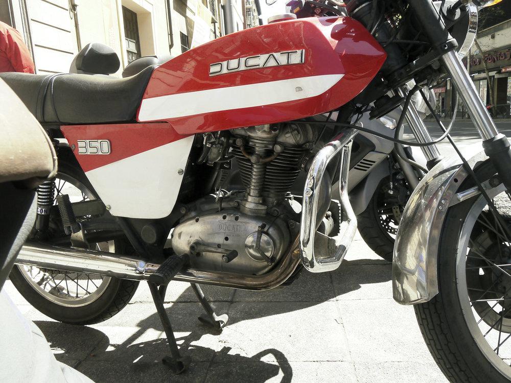 Fantastic vintage Ducati 350 Desmo. A model almost unknown in the States