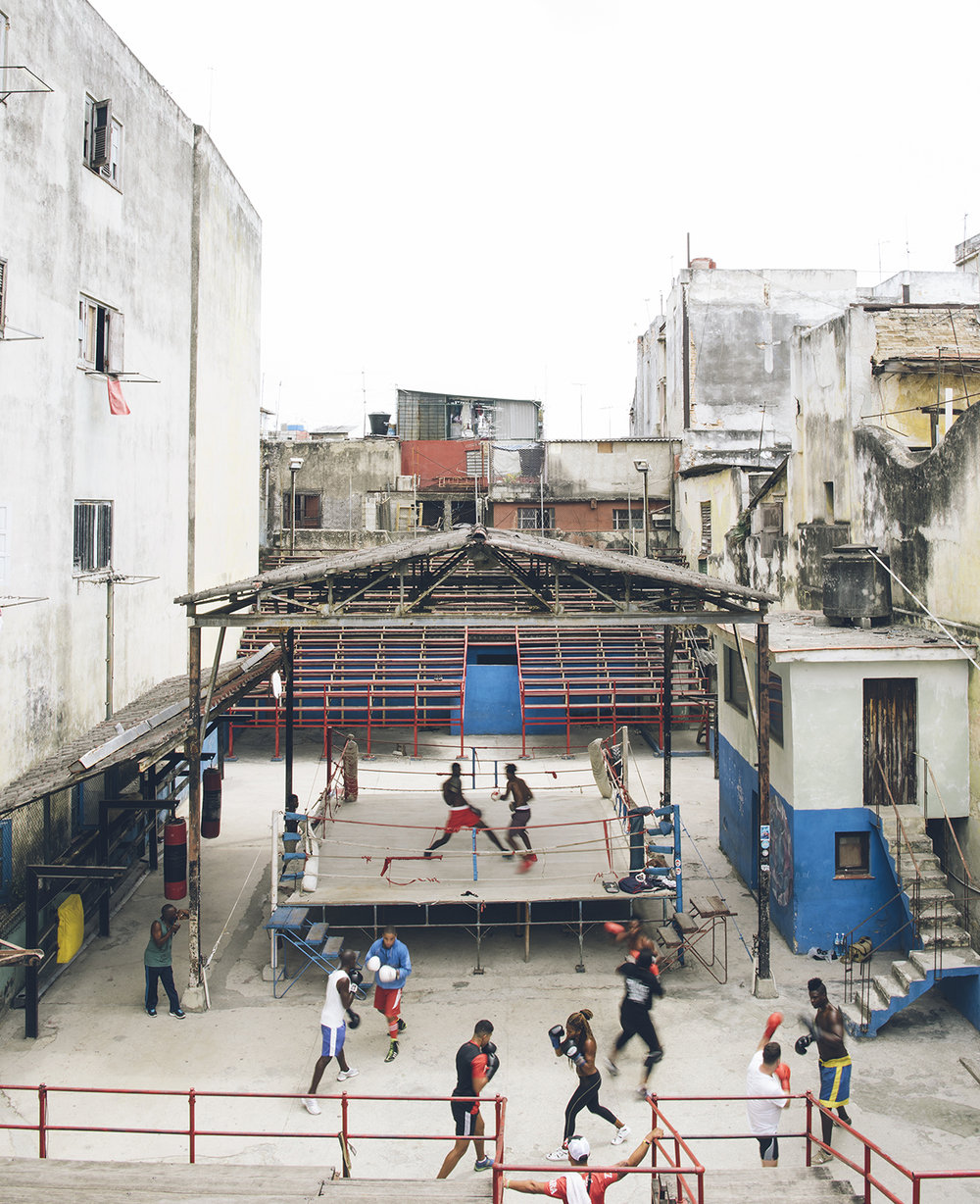 Training at Rafael Trejo Boxing Gym, Cuba's national training center in Havana.