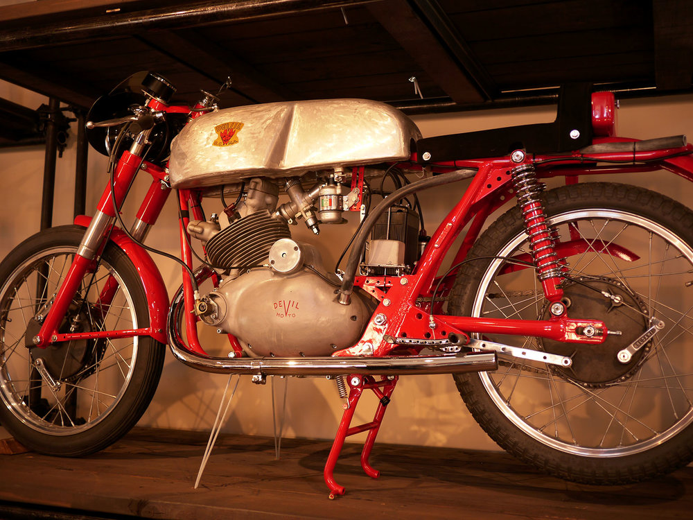 The only one in the world. A Devil four stroke racer. Devil made small two stroke utility bikes but decided to get into racing. And this is the product of their labors.
