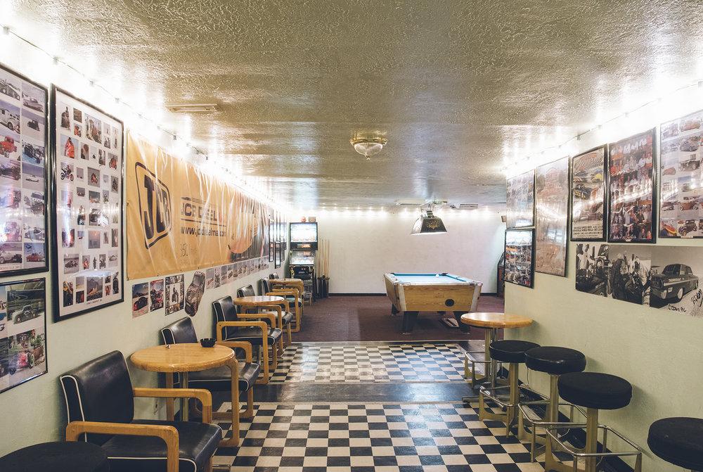 The pool room at Carmen's. Photos: Saroyan Humphrey