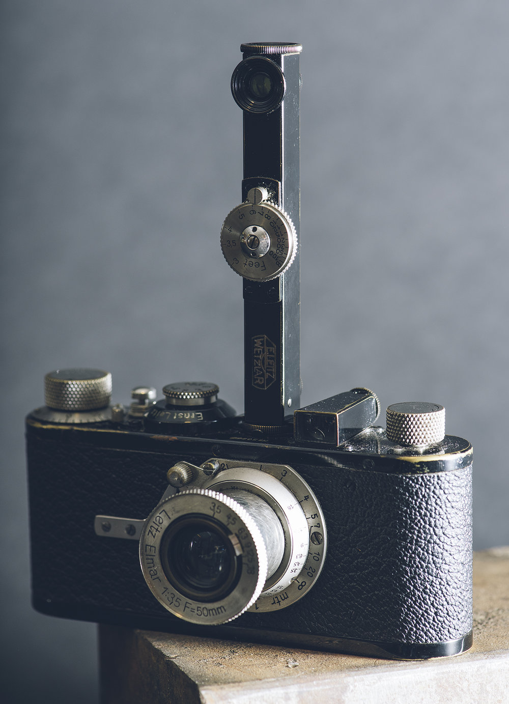 Leica collecting is all about the accessories. All Leica accessories have a code name. This is a 1930's FODUA  vertical rangefinder for the very rare model 1A.