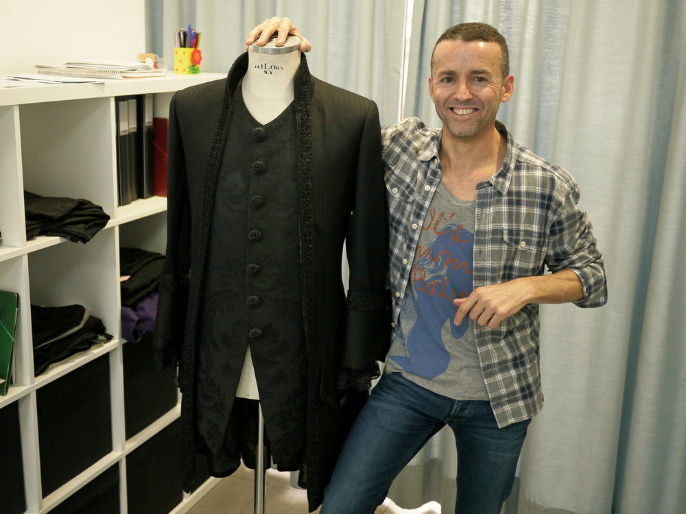 Robert Martinez with a 18th century mens fashion crafted by D-Tres Couture.