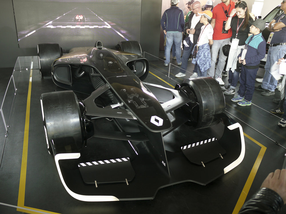 Very popular Renault concept race car in the Fan Zone.