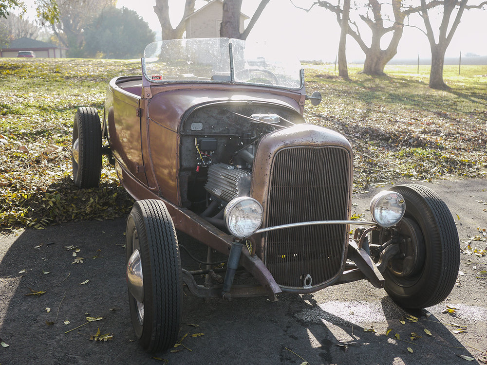 Bruce Woodwards Thickston equipped roadster. Just a beautiful traditional car on a sunny California morning.