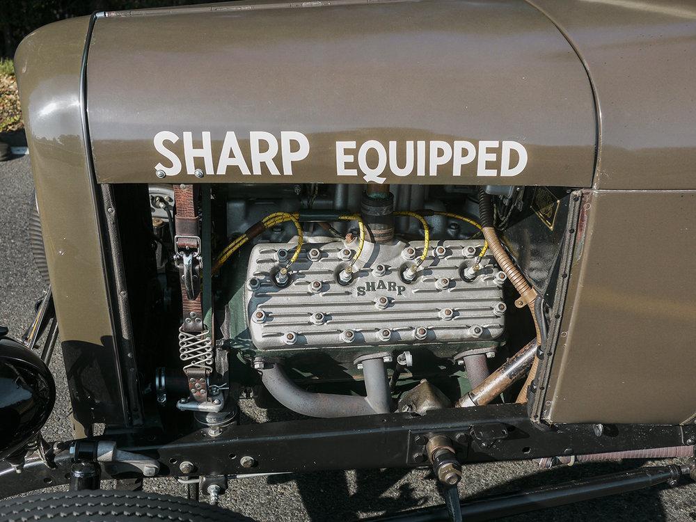 Engine detail of Luke's roadster.