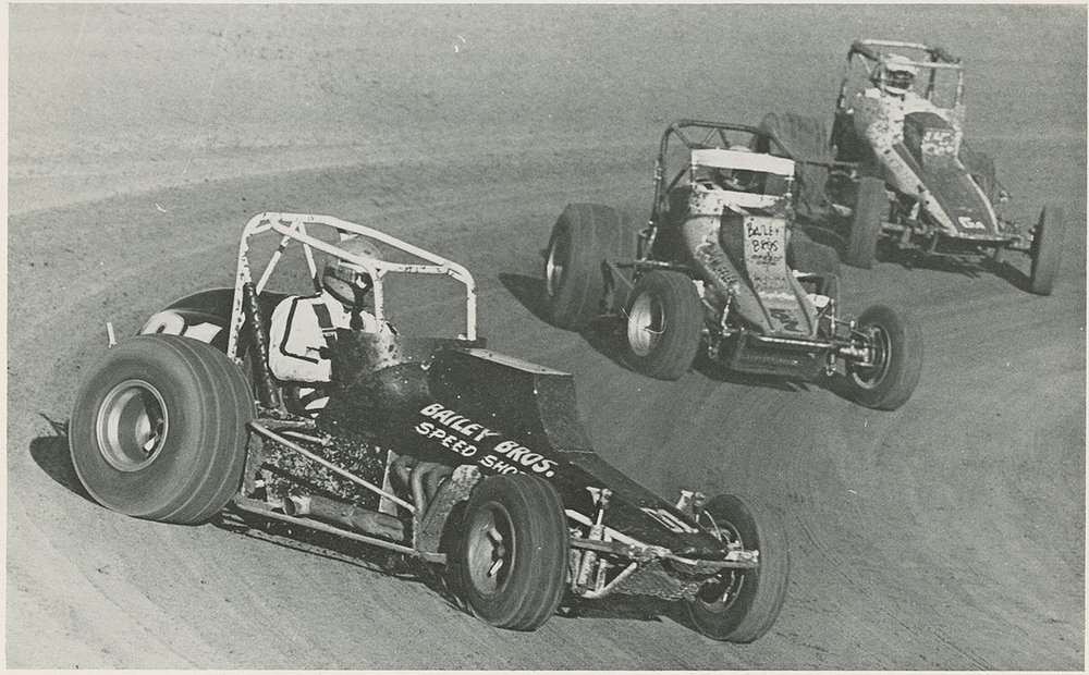 Driving the Bailey Brothers 01, Van Conett leads Pat Hughes and Ron Simmons at Santa Maria in 1978. (John Monhoff photo)