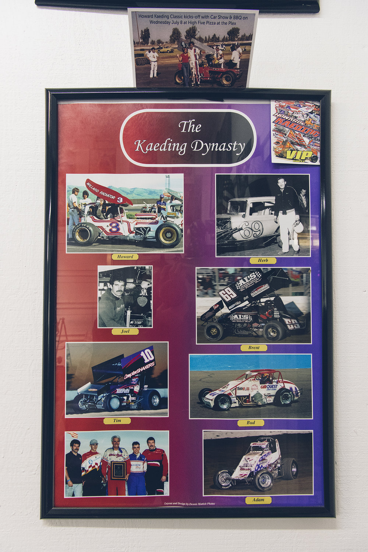 Kaeding poster: Howard, Herb, Joel, Brent, Tim, Bud, and Adam through the years.