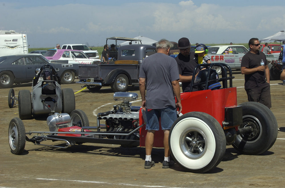 Young dads with little dudes can check out the iron on the staging lanes at Eagle Field.