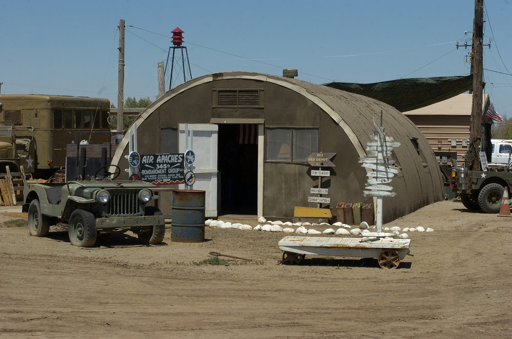 It almost looks real enough to use on a movie set. Eagle Field was originally a training strip for pilots starting in World War II. Now it's where vintage war machines go for their retirement and restoration. Airplanes, tanks, troop haulers, ambulances, Jeeps: There's a place for it among the old iron at Eagle Field.