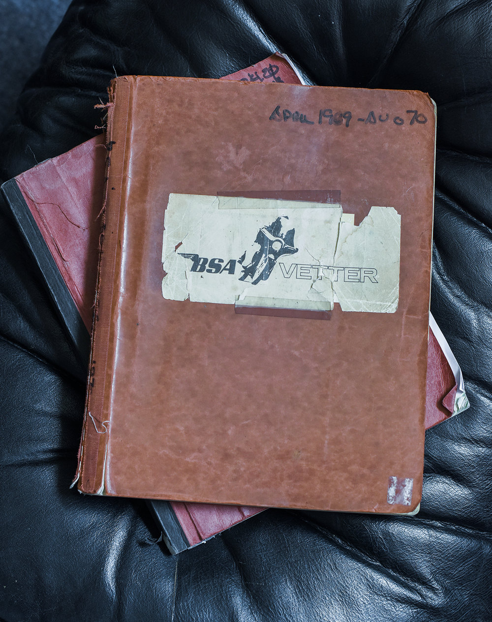 Vetter had a notebook for each of his projects. This is the book for his 1969 redesign of the BSA Rocket lll. The book contains his sketches as well as notes on every meeting he had with BSA staff. The design was eventually released as the Triumph X-75 Hurricane in 1972. This notebook is a historic treasure. (Photos: M. Blanchard)