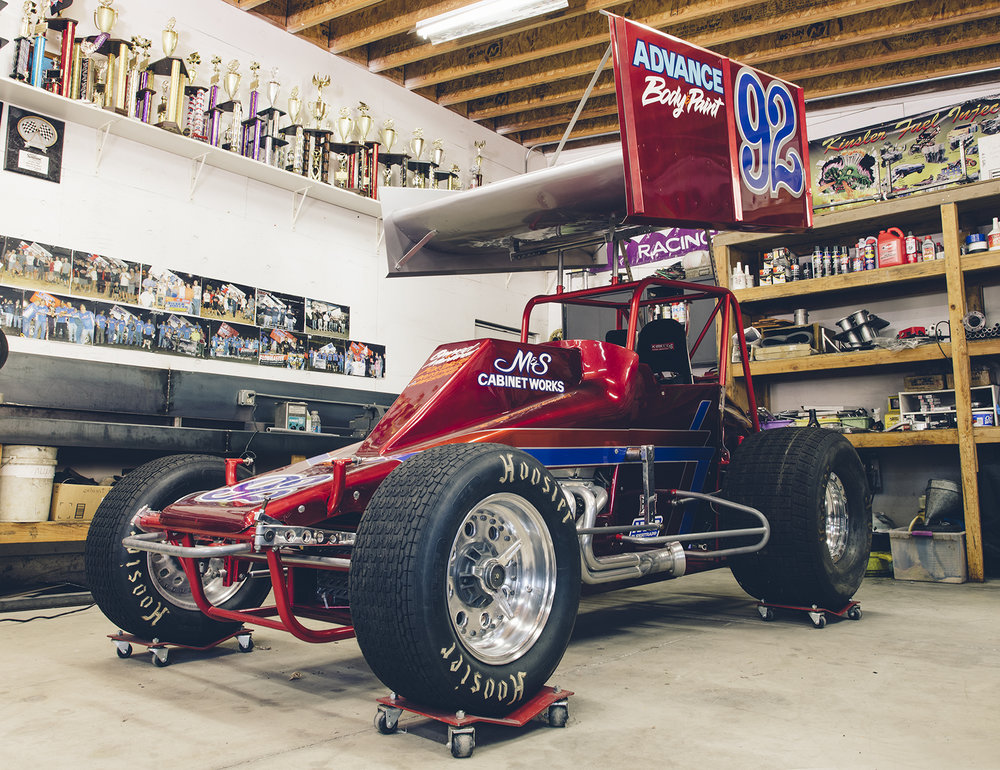 "Ready for Calistoga: Forsberg Racing's restored Lloyd chassis sprinter. ""It never looked that nice when it was new,"" says Richard."