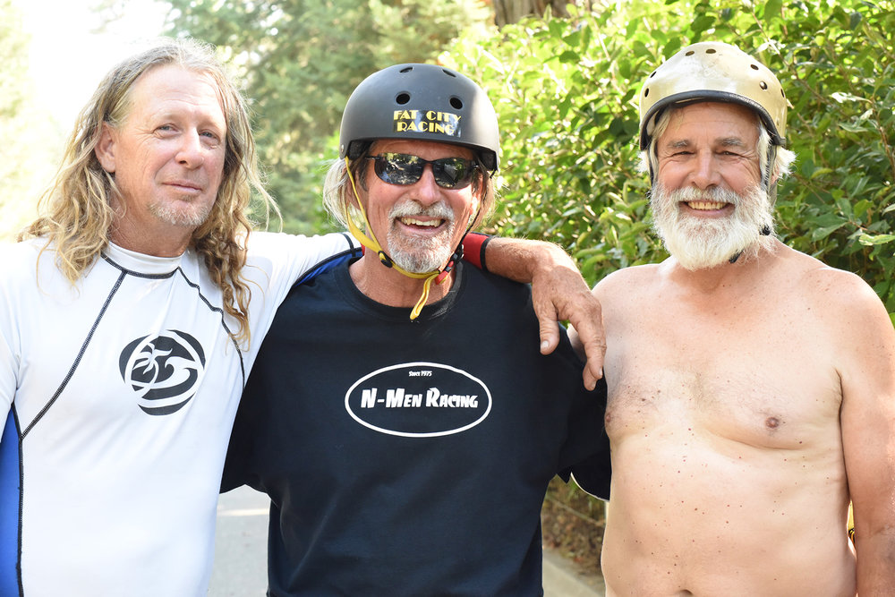 Jonny Miller, Jamie Hart and Cliff Coleman are skateboard legends. Hart, 67, won the Catalina Classic race in the '70s with appearances on ABC's Wide World of Sports. Coleman, 68, was a member of the legendary Hobie team in 1964 and '65. Miller won both masters races on the weekend and placed high in the open class as well.