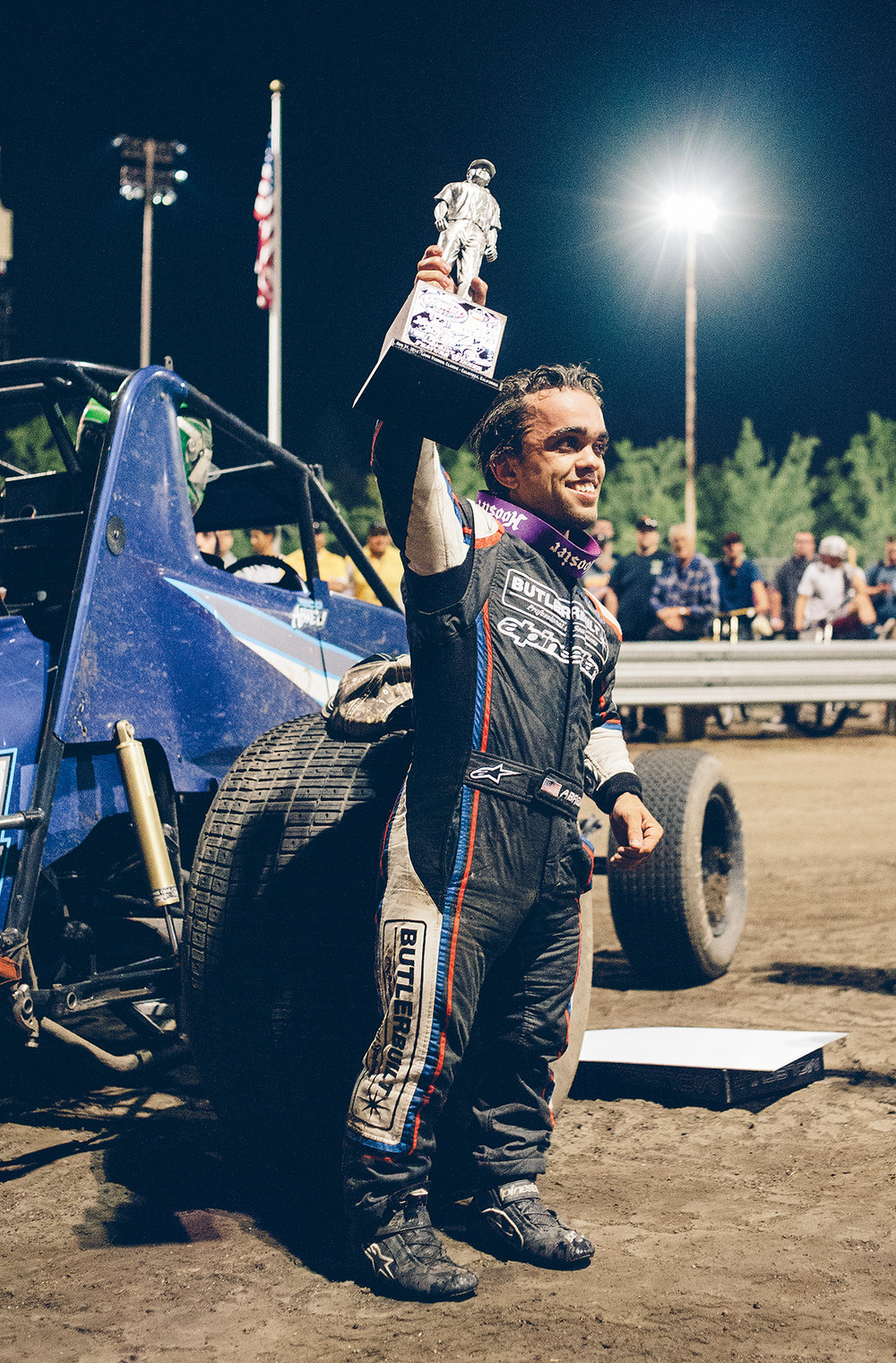 Sweet Home Calistoga: Rico Abreu wins the USAC-CRA non-wing sprint car main event during the 2014 Louis Vermeil Classic. As of 2018, Abreu has 11 victories at the historic track.