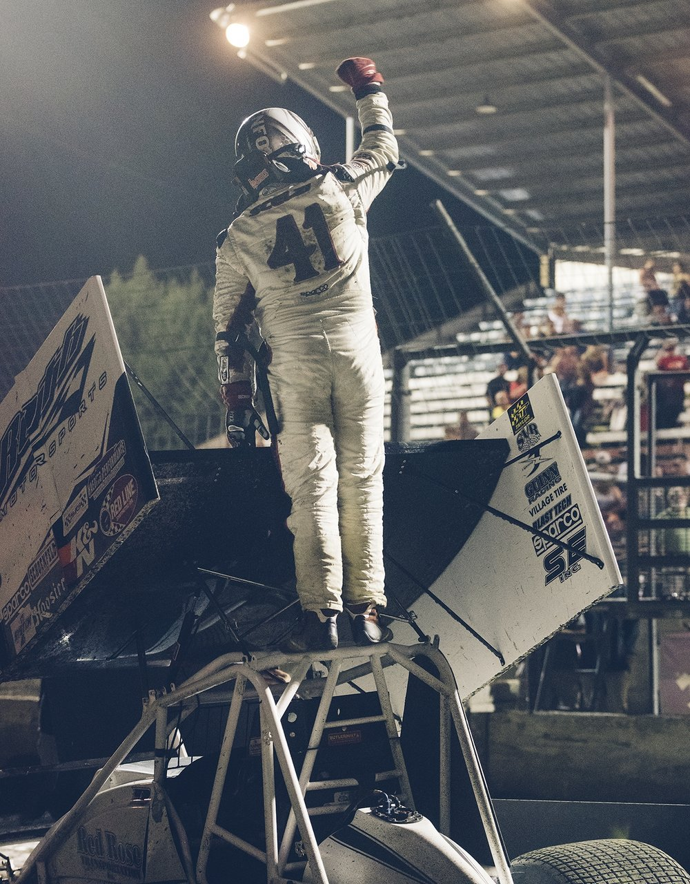 Comeback complete: Dominic is victorious at Hanford after returning to action from a back injury he sustained at Tulare in 2015.