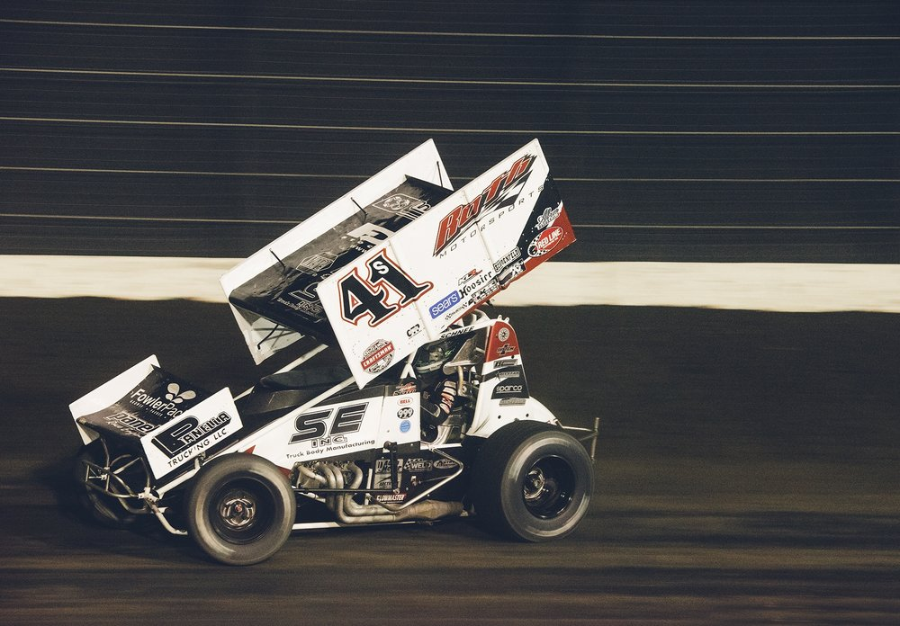 Driving the family car, Giovanni at Calistoga Speedway, September 2018, finished fifth in the World of Outlaws race.