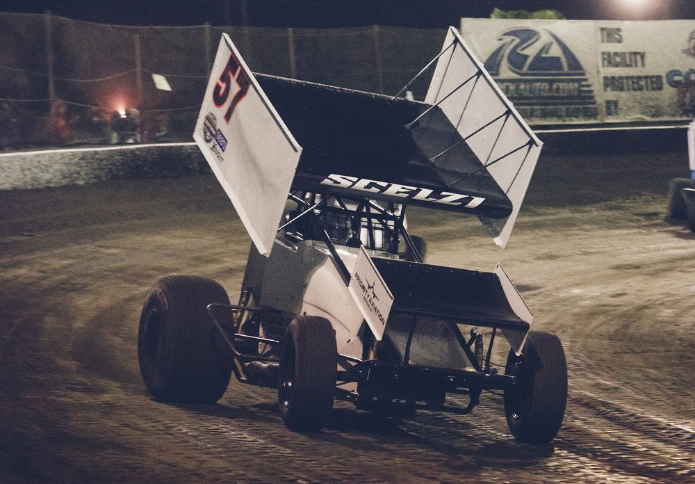 Earlier this season, Giovanni wheels the Paul Silva 410 sprint car at Bakersfield Speedway. He finished 16th in his fifth start with the Outlaws.