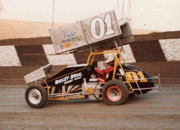 Sills driving the Bailey Brothers sprint in 1990. (courtesy Sills archive)