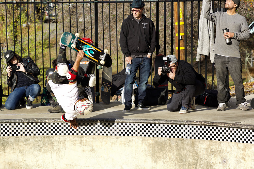 Cab can still throw it down. The over 50 crowd was putting in strong runs. Notice Bryce Kanights getting the shot. You can see his version of this photo on his Instagram feed.
