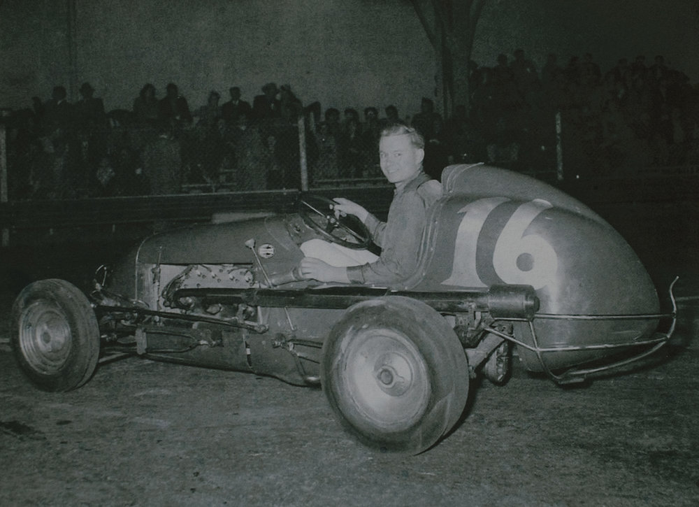 Norm Rapp in his Kurtis V8-60 at Oakland, 1951. (Rapp family archive)