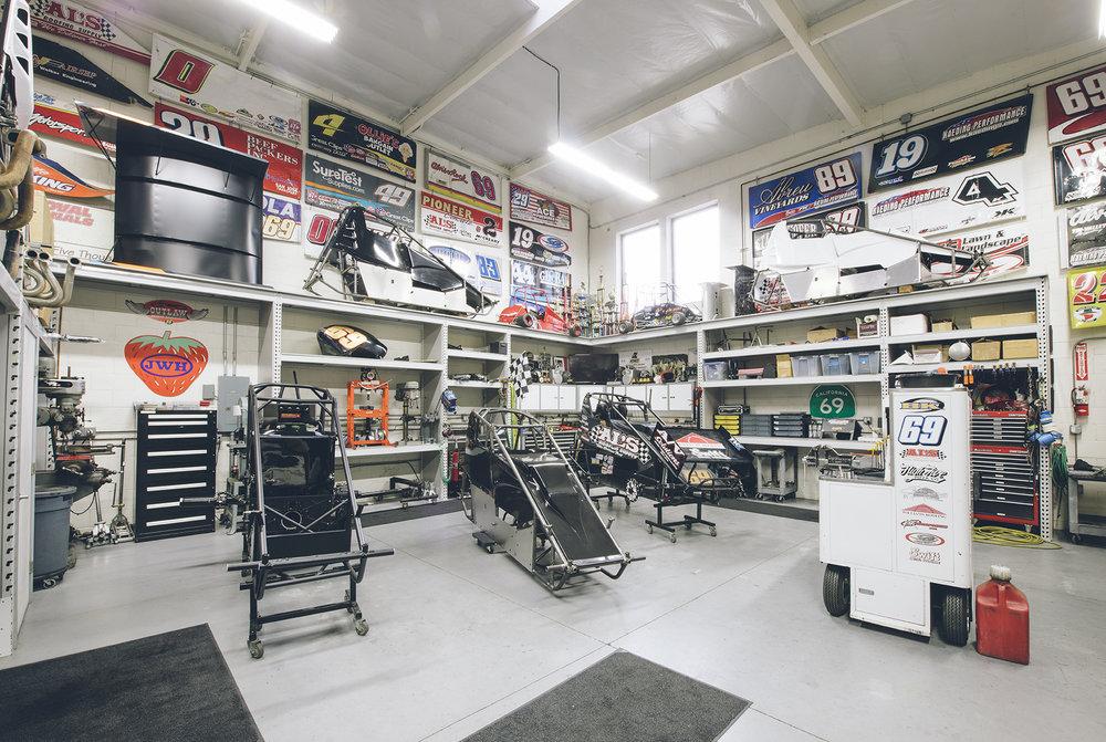 The BK Racing shop at Kaeding Performance.