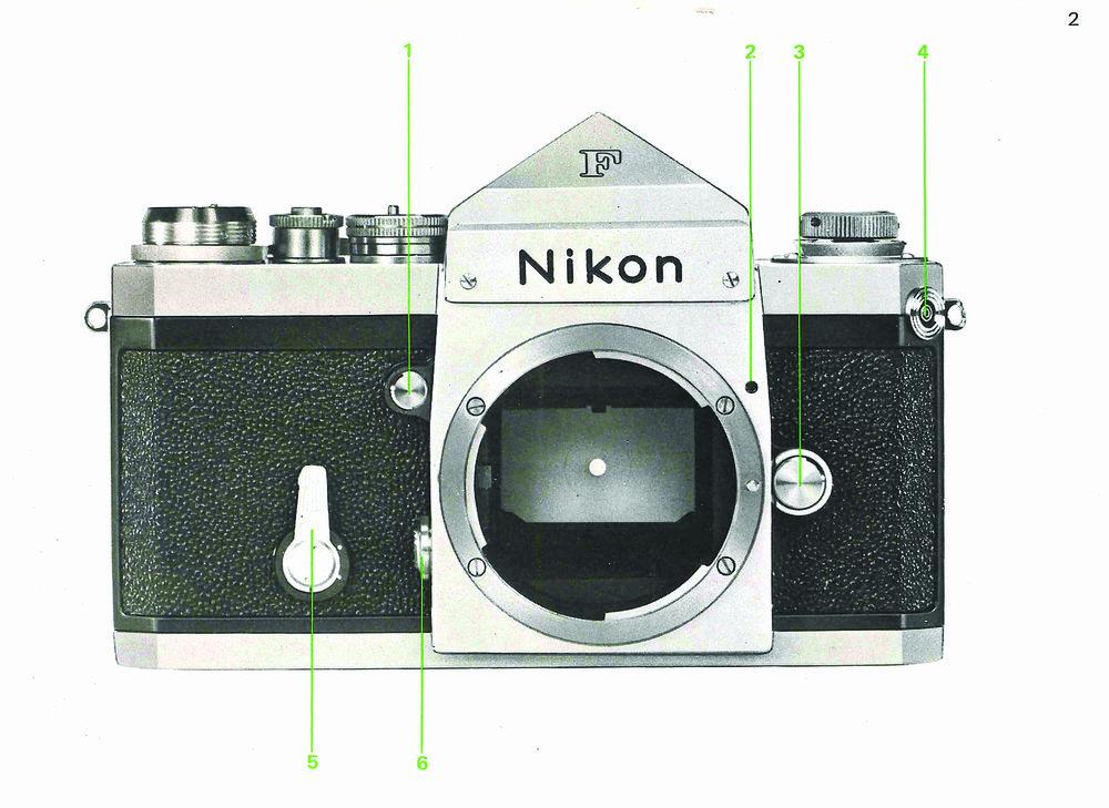 Photos courtesy of the Nikon F instruction manual.