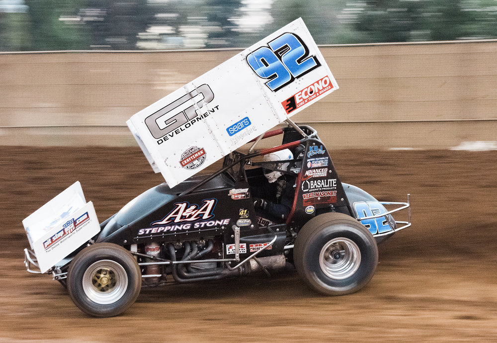 Andy on the gas at Placerville, 2018.