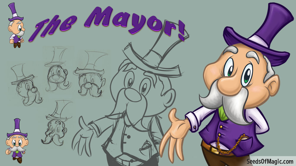 Mayor Weebles CHaracter SKetches