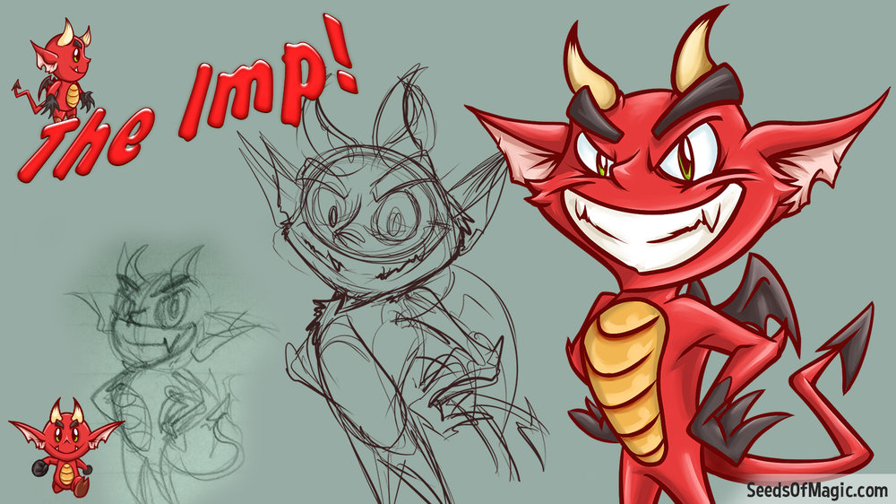 Travor the Imp Character Sketches