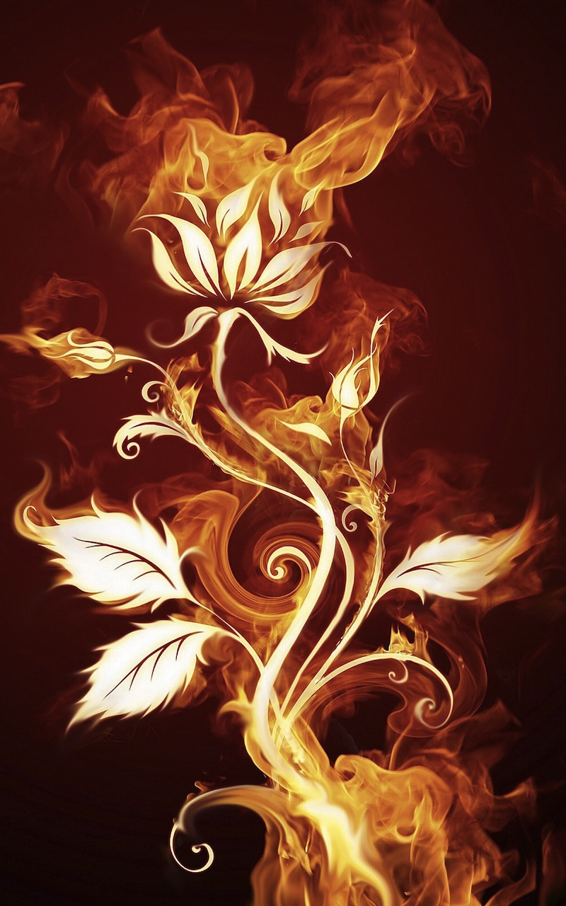 Fire-Leaves-Art