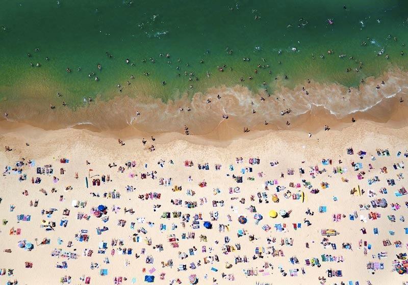 beach above