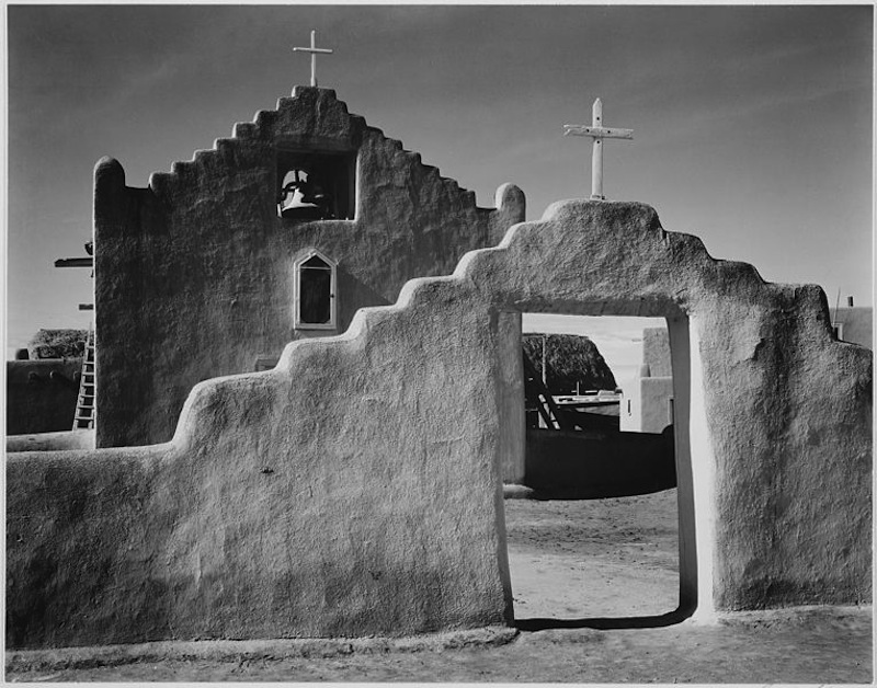 ansel-adams-image-of-Church-in-Taos