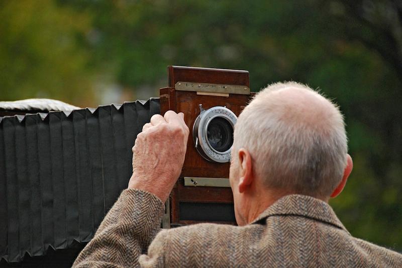 Man and camera