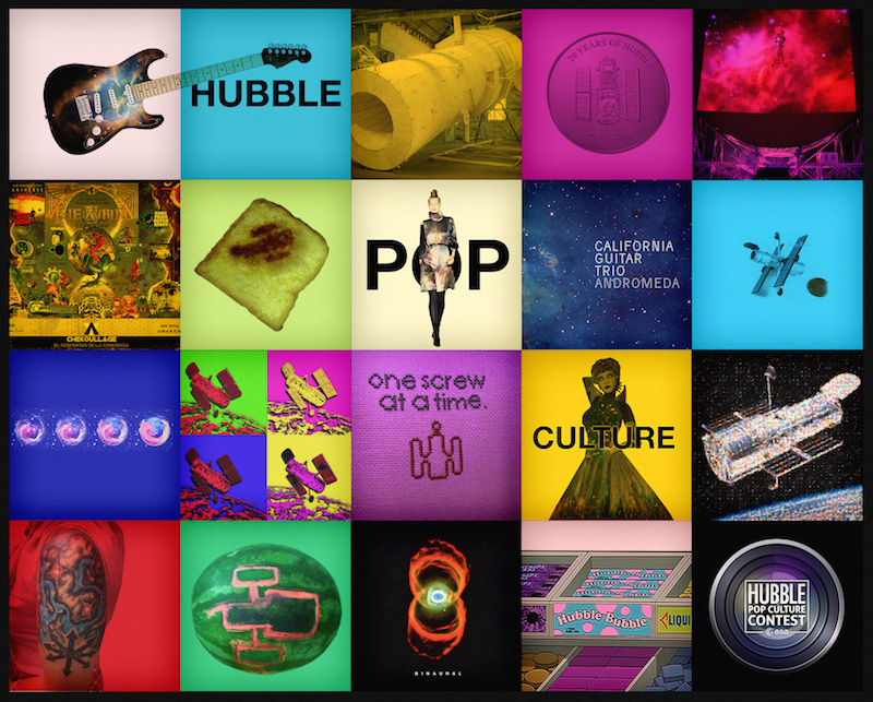 Highlights of entries to the Hubble Pop Culture competition.