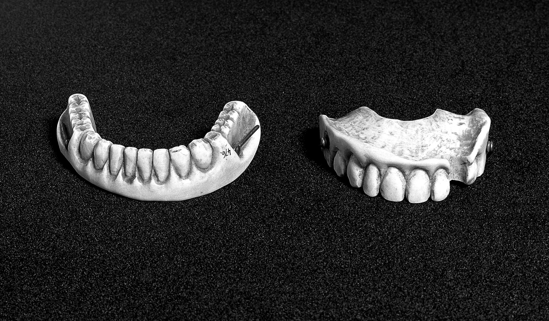 L0003910 Carved ivory upper and lower denture