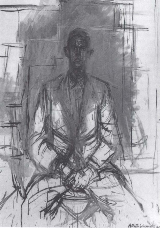 A Portrait of James Lord by Giacometti.