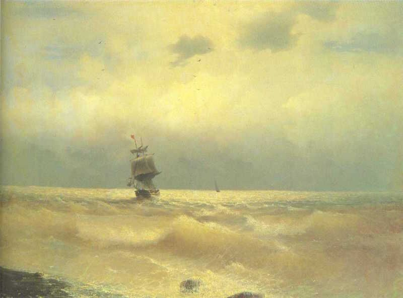 The Ship Near Coast by Ivan Aivazovsky