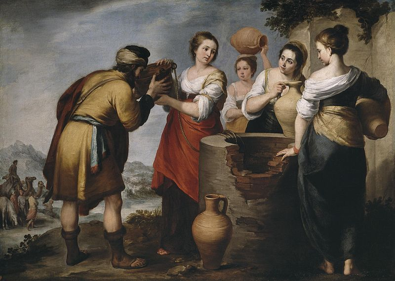 Rebecca and Eliezer by Bartolomé Esteban Murillo, 17th century.