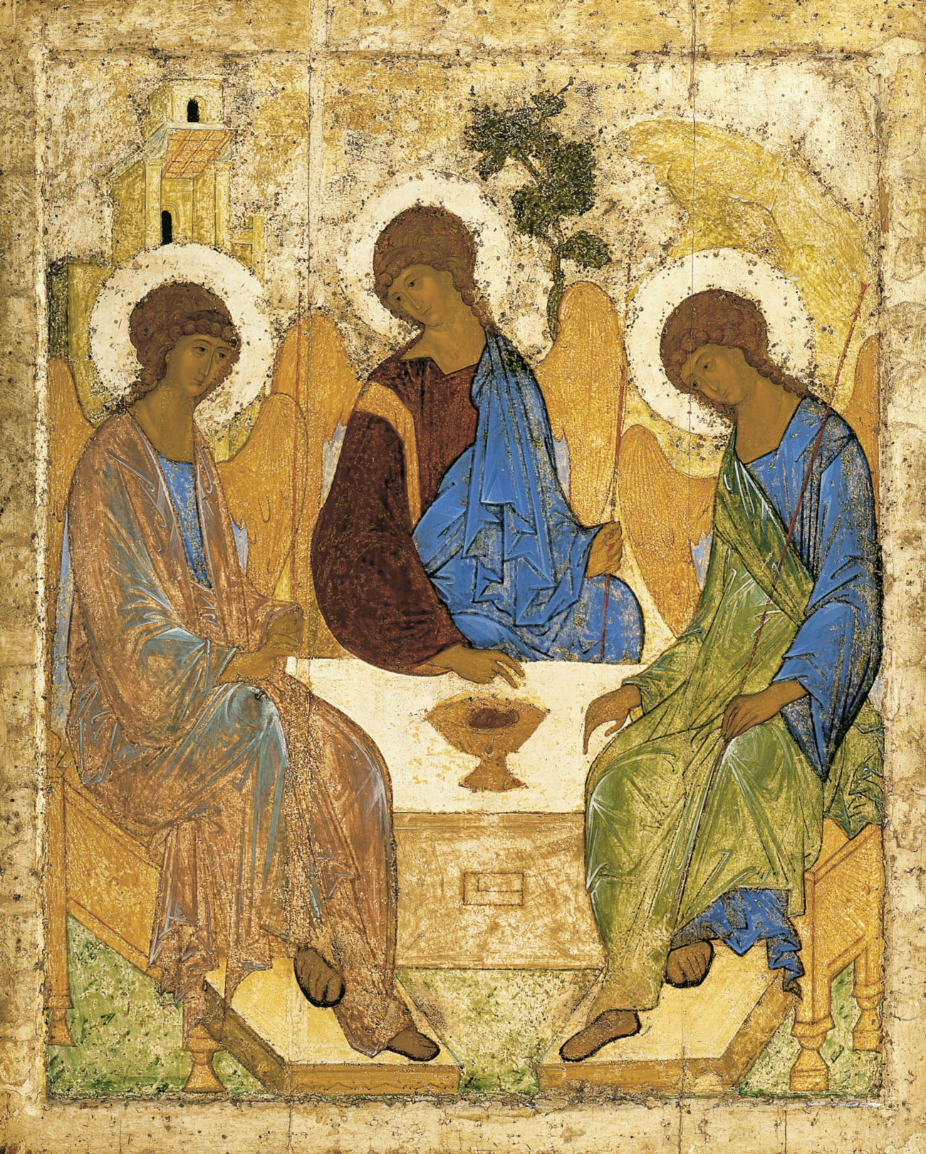 The Trinity (Russian: Троица, tr. Troitsa, also called The Hospitality of Abraham) is an icon created by a Russian painter Andrei Rublev in the 15th century.