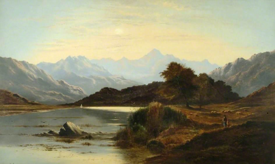Loch Katrine, Ellen's Isle by Charles Leslie 1879