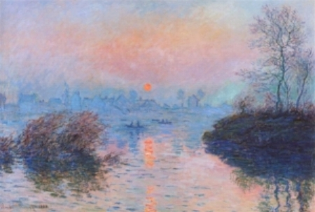 Sunset on the Seine at Lavacourt, Winter Effect - Claude Monet
