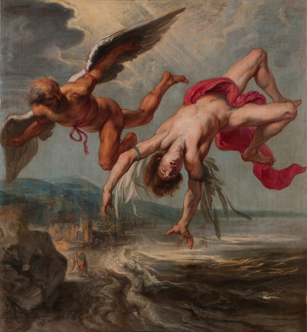 Jacob Peter Gowy (c 1615-1661), The Fall of Icarus