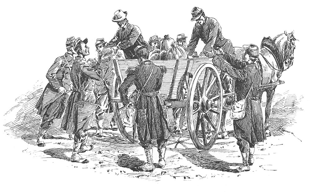 039 Villagers Distribute Bread Wagon.jpg